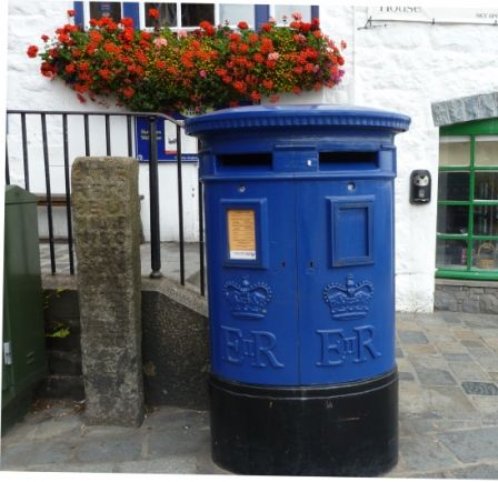 blue mail box ... this is Guernsey