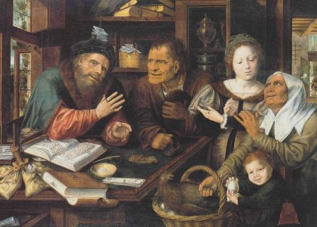 Chez le percepteur, Jan Massys, 1539