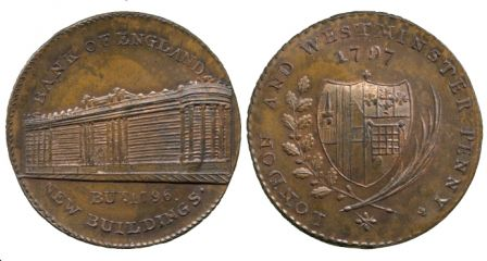 le token Bank of England de 1797